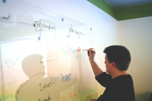 Photo of whiteboarding
